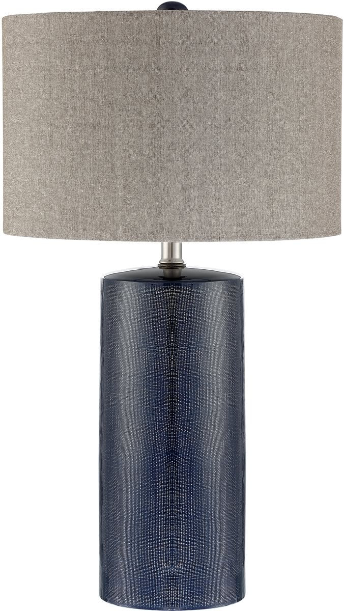 Jacoby 1 Light Table Lamp Navy Blue