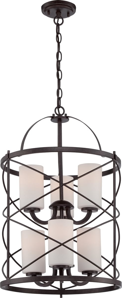 "16""W Ginger 6-Light Chandelier Old Bronze"