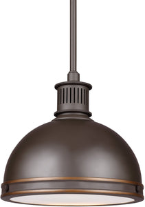 Pratt Street Metal 1-Light LED Pendant Autumn Bronze