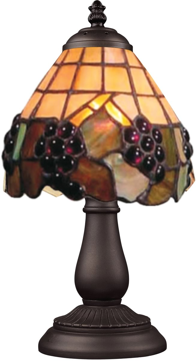"13""H Mix-N-Match 1-Light Table Lamp Vintage Antique/Stained Glass"