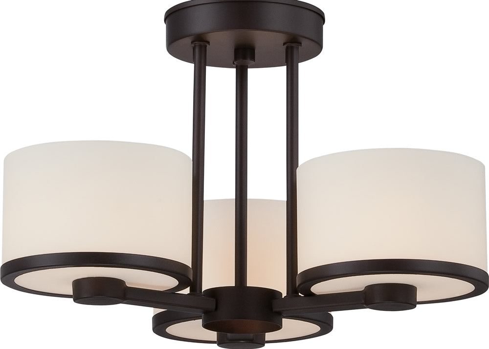 "15""W Celine 3-Light Close-to-Ceiling Venetian Bronze"