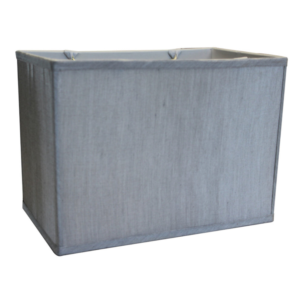"14""W x 10""H Rectangular Drum Lampshade Softback Gray"