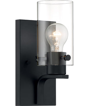 Sommerset 1-Light Vanity & Wall Matte Black