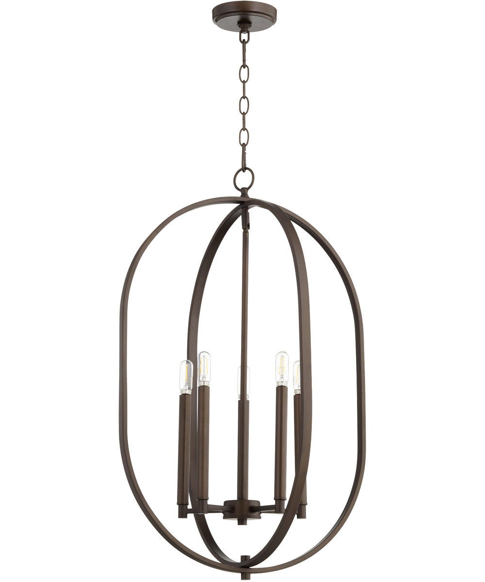 "16""W Collins 4-light Entry Foyer Hall Chandelier Oiled Bronze"