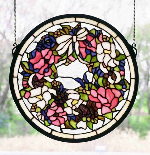 "15""H Wreath Window"