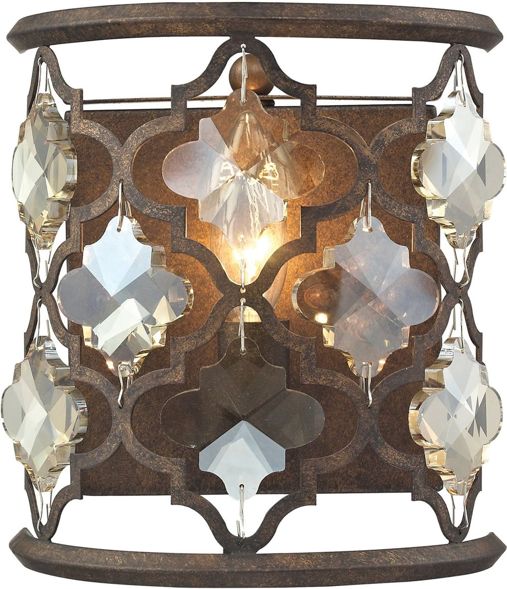 "8""W Armand 1-Light Sconce Weathered Bronze"
