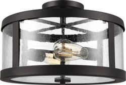 Harrow 2-Light Semi Flush Mount Oil Rubbed Bronze
