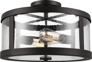 "15""W Harrow 2-Light Semi Flush Mount Oil Rubbed Bronze"