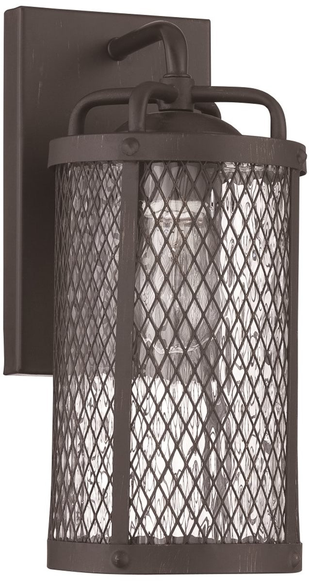 Blacksmith 1-Light Outdoor Wall Light Matte Black Gilded