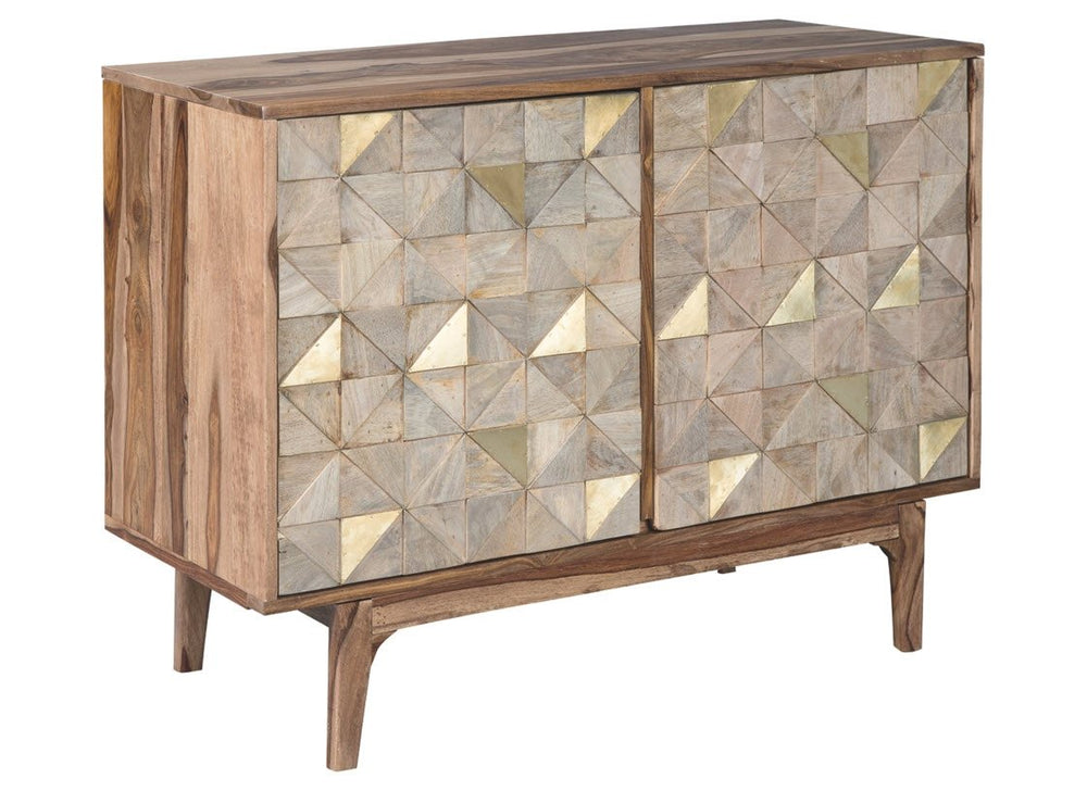 "28""H Carolmore Accent Cabinet Brown/Gold"