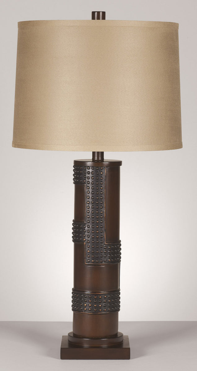 Oriel 3-Way Set of 2 Table Lamp Antique Copper and Wood