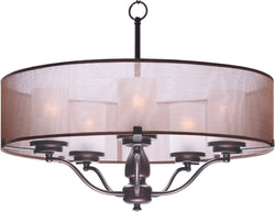 "26""W Lucid 5-Light Pendant Oil Rubbed Bronze"