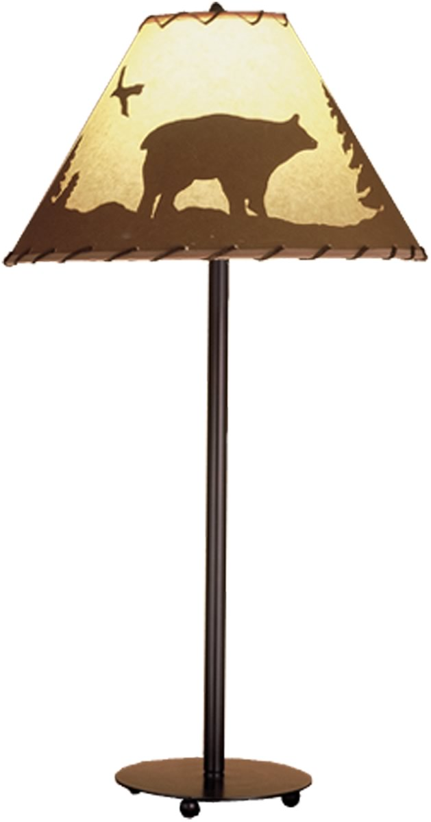 "29""H Bear in the Woods Table Lamp"