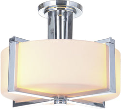 0-008285>Albany 3-Light Semi Flush Chrome