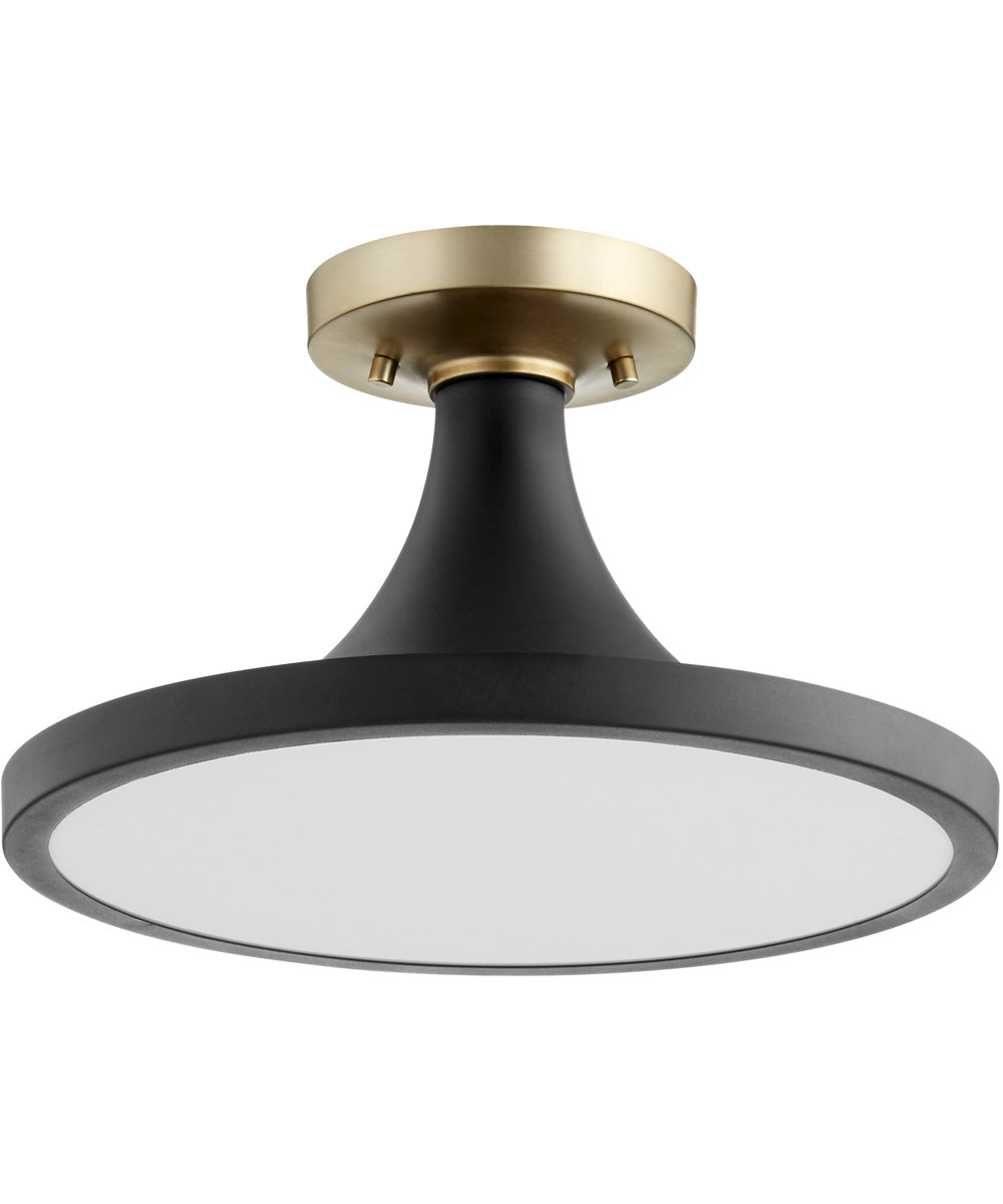 "15""W 1-light Ceiling Flush Mount Noir"