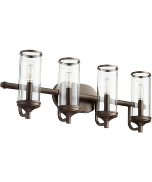 "26""W Collins 4-light Bath Vanity Light Oiled Bronze"