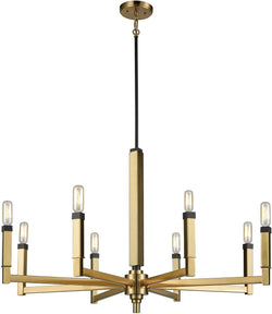 Mandeville 8-Light Chandelier Satin Brass/Oil Rubbed Bronze Accents