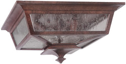 Argent II 3-Light Outdoor Flush Mount Aged Bronze
