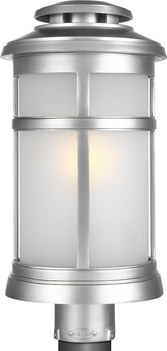 Newport 1-Light Post Lantern Painted Brushed Steel
