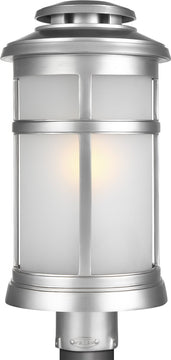 "19""H Newport 1-Light Post Lantern Painted Brushed Steel"
