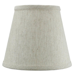 "8""W x 7""H Textured Oatmeal Hard Back Lampshade Edison Clip On"