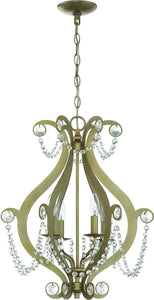 4-Light Mini Chandelier Gold Twilight