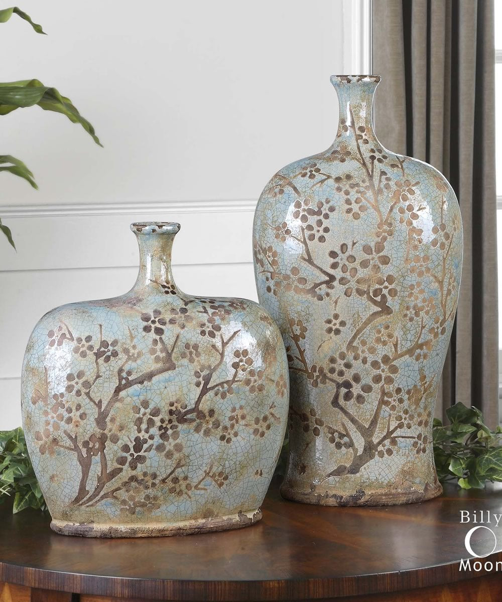 "18""H Citrita Decorative Ceramic Vases Set of 2"