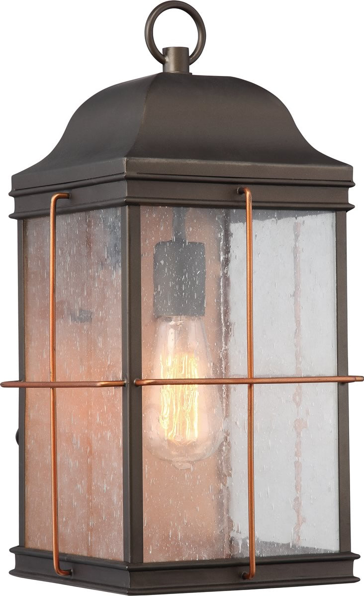 "17""H Howell 1-Light Outdoor Bronze / Copper Accents"