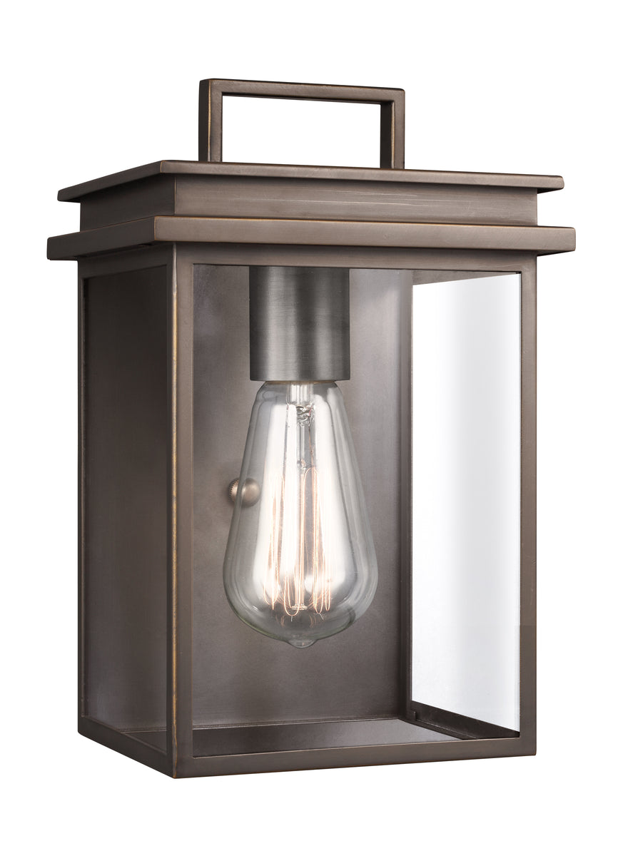 "10""H Glenview 1-Light Outdoor Wall Lantern Antique Bronze"