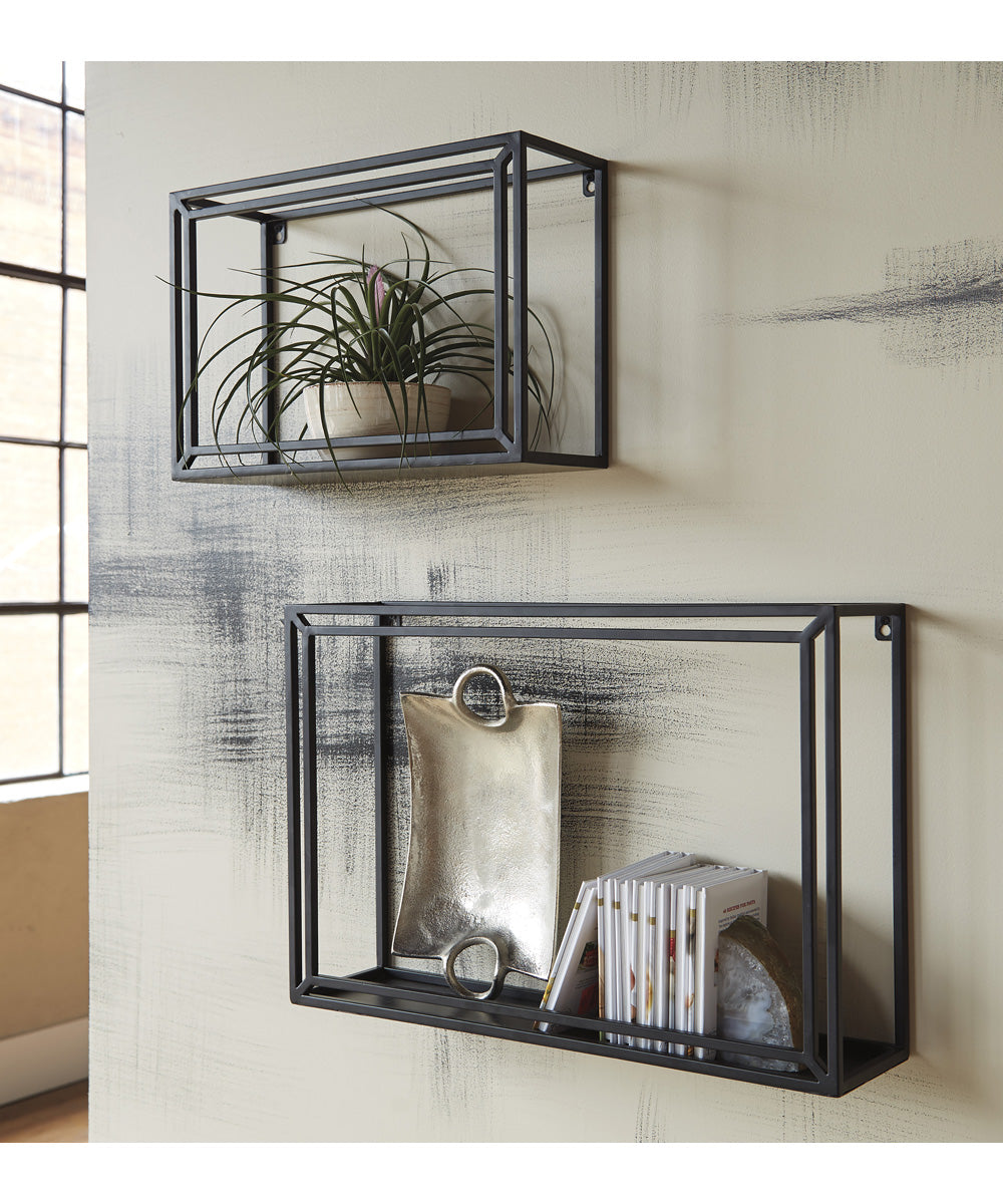 Ehren Wall Shelf Set of 2 Black