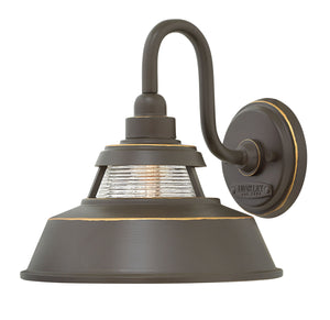 "10""H Troyer 1-Light Medium Outdoor Wall Light in Oil Rubbed Bronze"