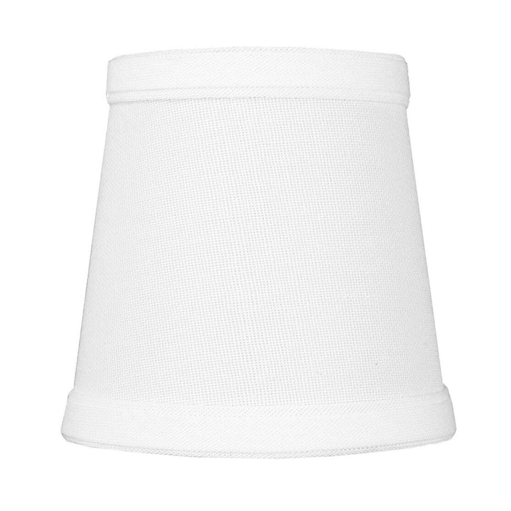 3x4x4 Chandelier White Linen Clip-On Lamp shade