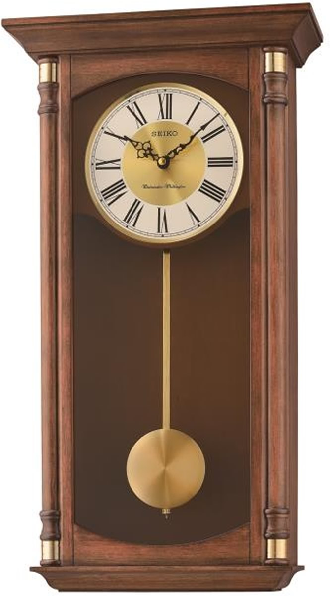 "13""H Wall with Pendulum and Chime Clock"