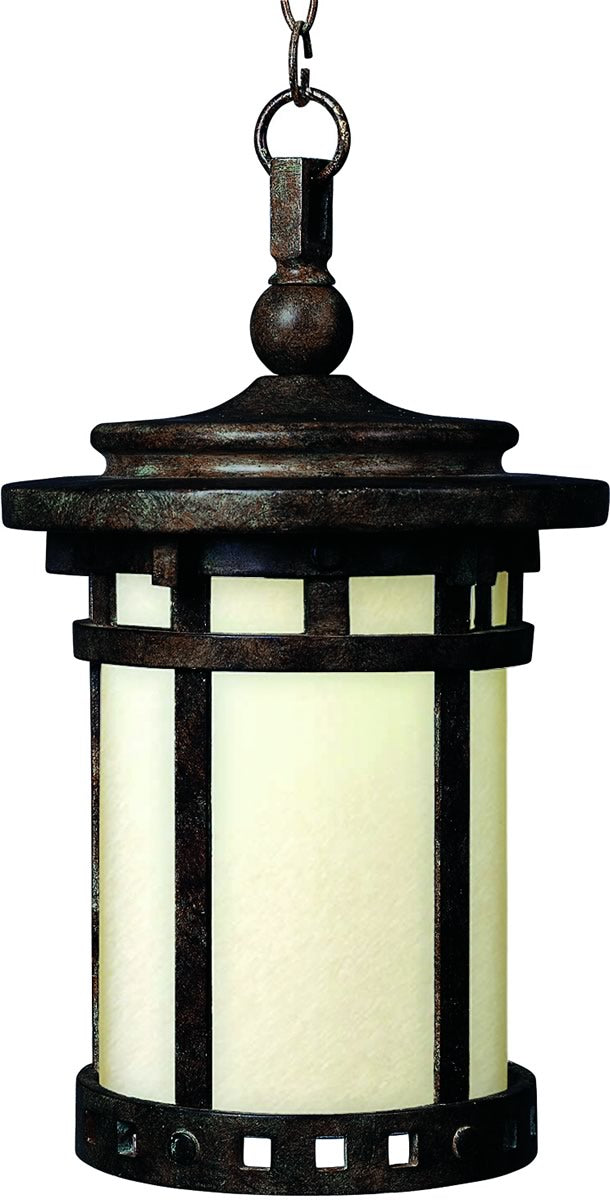 "9""W Santa Barbara LED 1-Light Outdoor Hanging Lantern Sienna"