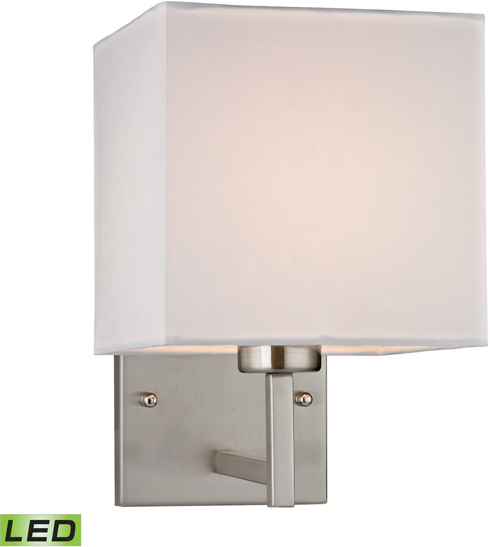 "7""W Sconces 1-Light LED Wall Sconce Brushed Nickel"