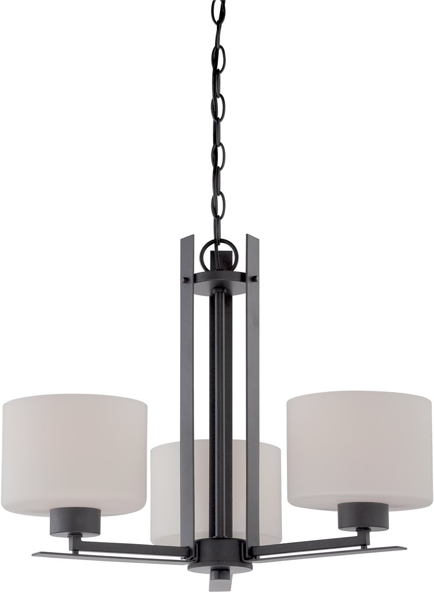 "23""W Parallel 3-Light Chandelier Aged Bronze"