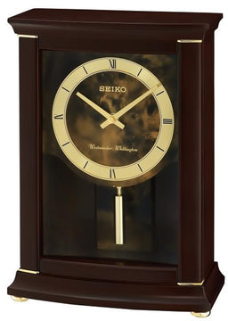 "9""H Mantle with Pendulum and Chime Clock"