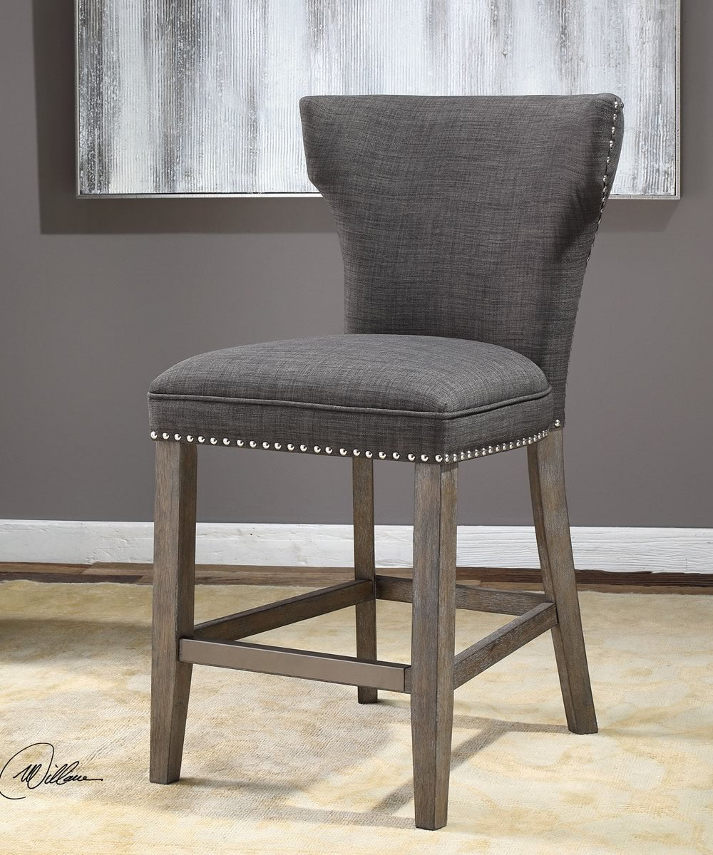 "39""H Arnaud Charcoal Counter Stool"