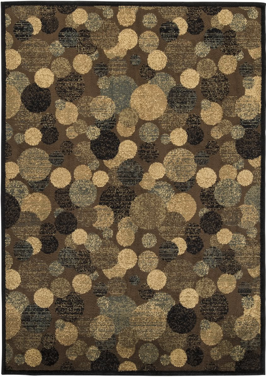 "60""W Vance Medium Rug Brown/Cream"