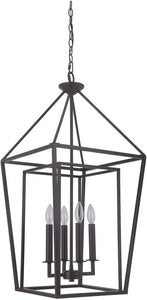 Hudson 4-Light Foyer Light Oiled Bronze