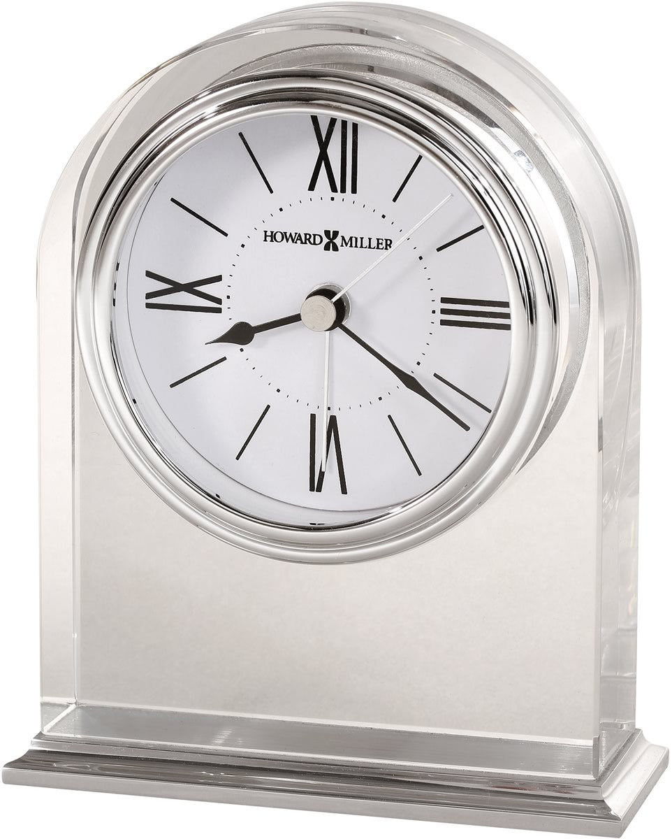 "5""H Optica Tabletop Clock Polished Aluminum"