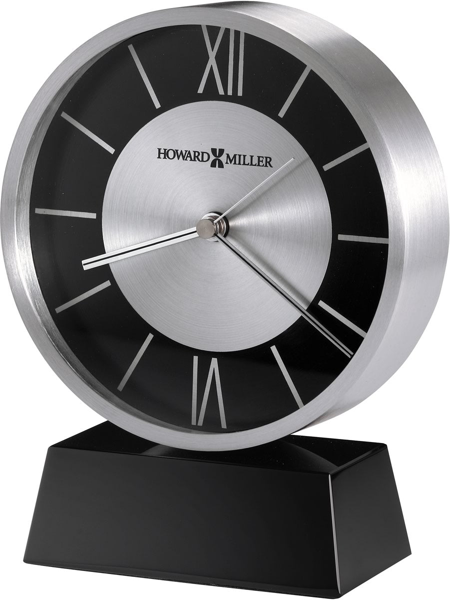 "7""H Davis Tabletop Clock Brushed Aluminum"