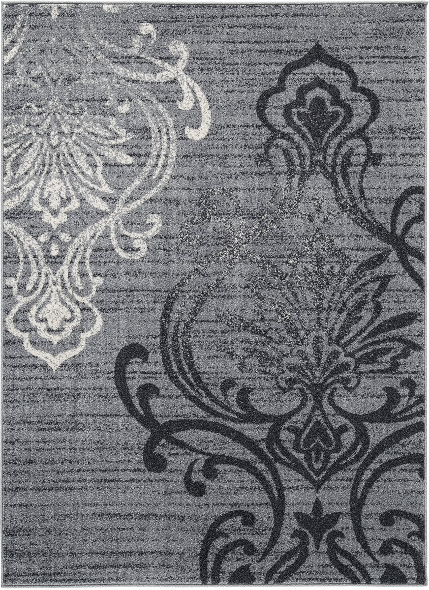 "60""W Verrill Medium Rug Gray/Black"