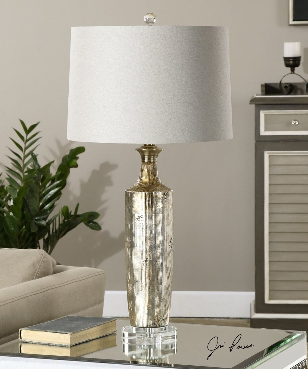 "30""H Valdieri Metallic Bronze Lamp"