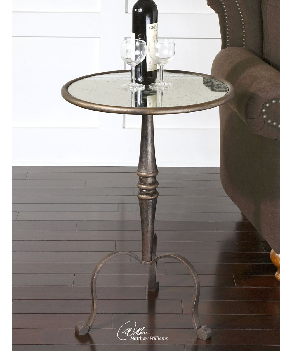"28""H Anais Mirrored Accent Table"