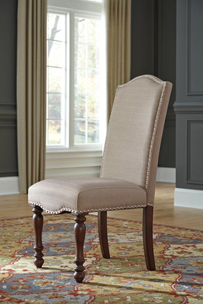 "41""H Baxenburg Dining UPH Side Chair (Set of 2) Brown"