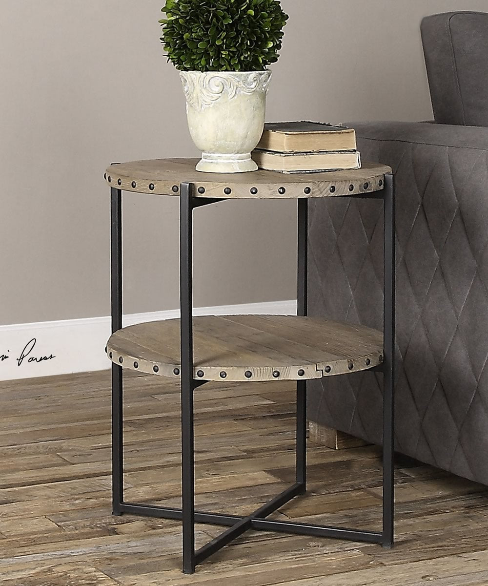 "24""H Kamau Round Accent Table"