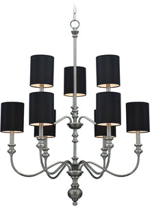 Willow Park 9-Light Chandelier Antique Nickel