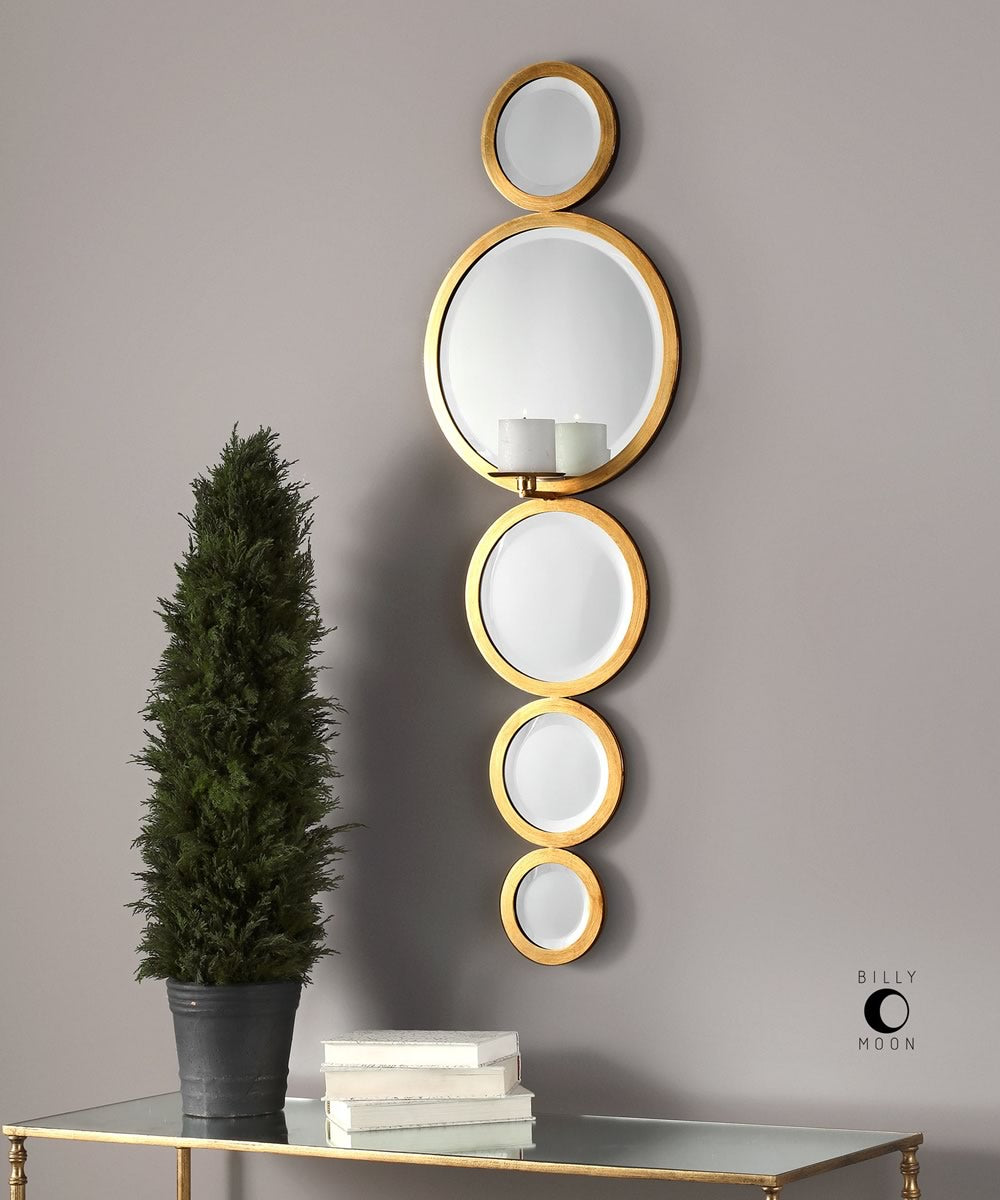 "48""H x 15""W Hailey Mirrored Candle Wall Sconce"