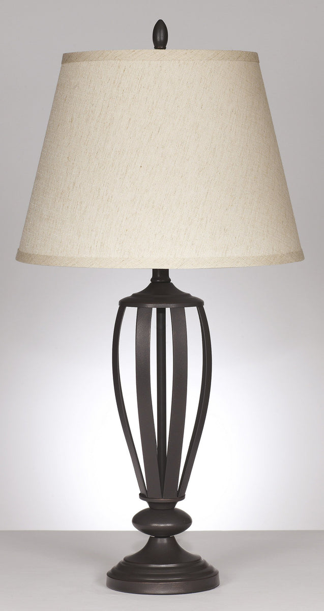 "30""H Mildred 1-Light Set of 2 3-Way Table Lamps Bronze"